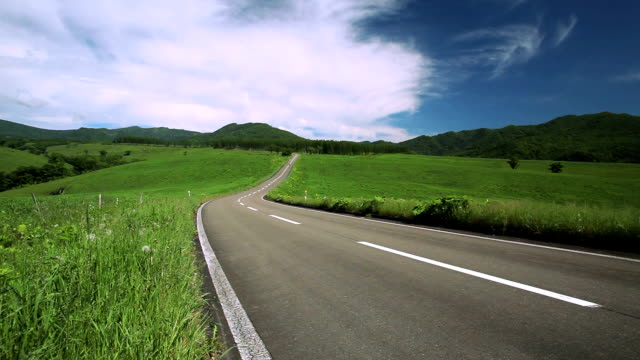 Road to the mountain.(Motorcycle passing) video