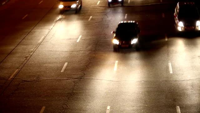 Road traffic in nighttime video