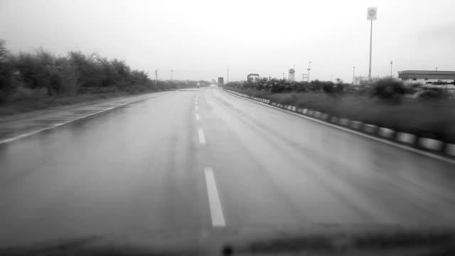 Road trip in rain video