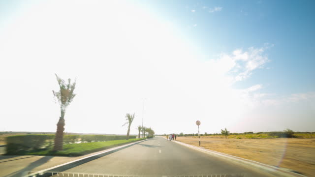 road trip time lapse from al ain near dubai video