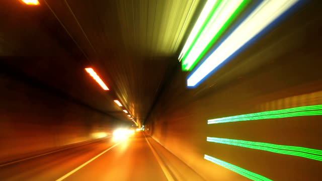 POV T/L Road Tunnel Drive video
