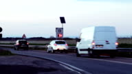Road with speed cameras video