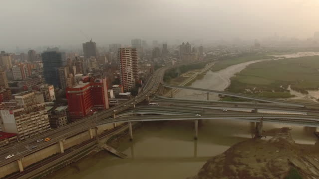Roads and Pollution, Taipei by Drone video