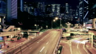 Roads in Hong Kong in the evening video