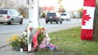 Roadside Memorial Marking RCMP Officer Death video