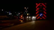 Roadworks at night video