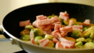 Roast brussels sprouts with ham video