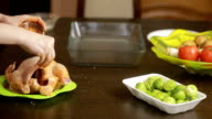 roasted chicken on plate video
