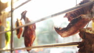 Roasted geese and duck famous barbecue food cuisine of Hong Kong, Chinese video