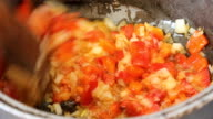 Roasted peppers, onions and garlic video