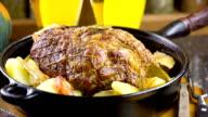 Roasted pork video