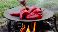 Roasted red peppers video