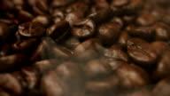 Roasting coffee beans rotating video