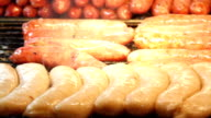 Roasting Sausages.HD video
