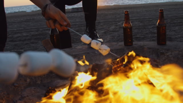 Roasting S'mores - Personal POV video