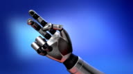 Robot arm playing with planet earth video