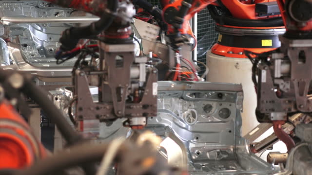 Robots Welding On Car Body video
