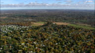 Rochester Suburbs - Aerial View - New York,  Monroe County,  United States video