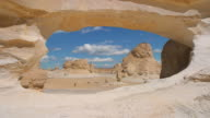 rock arch in the white desert of egypt video