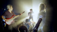 Rock band performing on stage video