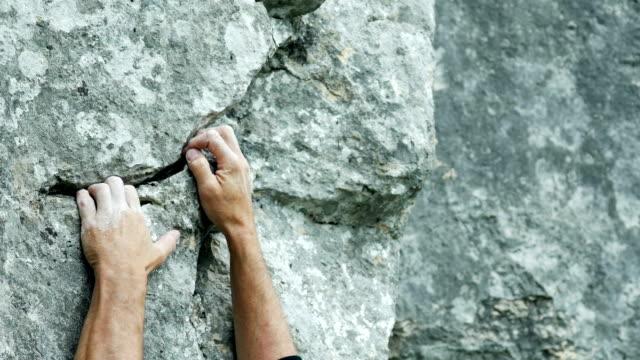 Rock Climber Close-up (4K/UHD to HD) video