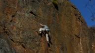 Rock climber falls video