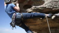 Rock climber reaches top video
