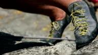 Rock climbing video