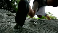 HD STOCK: Rock climbing video