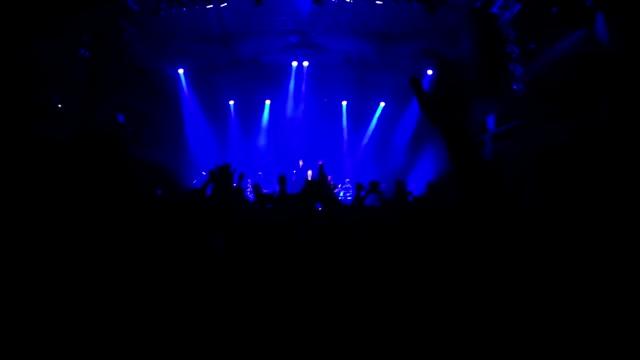 Rock concert fans slow motion video video