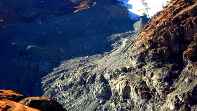 Rock detail and Breithorn video