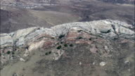 Rock Formations In Laramie Mountains  - Aerial View - Wyoming, Platte County, United States video