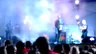 Rock group, out of focus. video