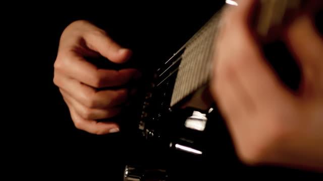 Rock Guitarist Close Up - 24p Cinematic Look video