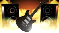 Rock music (fire) - Loop video