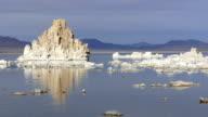 Rock Salt Tufa Formations Sunset Mono Lake California Nature Outdoors video
