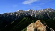 rock snow mountains Ili River Valley video