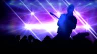 Rock star concert. HD video