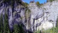 AERIAL: Rock Wall Waterfall video