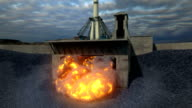 Rocket Launch in the afternoon Soyuz ST Jet Engine video