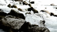 rocks and river watefall video