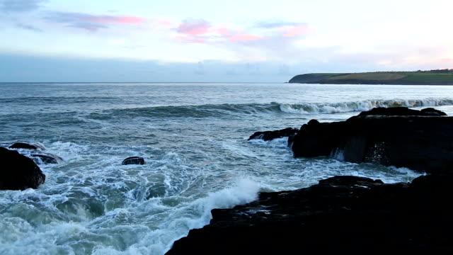 HD: Rocks at coast, Cork, Ireland video