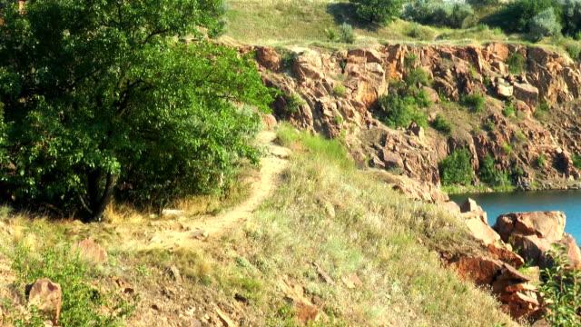 Rocks near the lake video