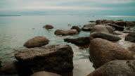 Rocks on the sea coast video