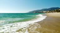 rocky beach and ocean video