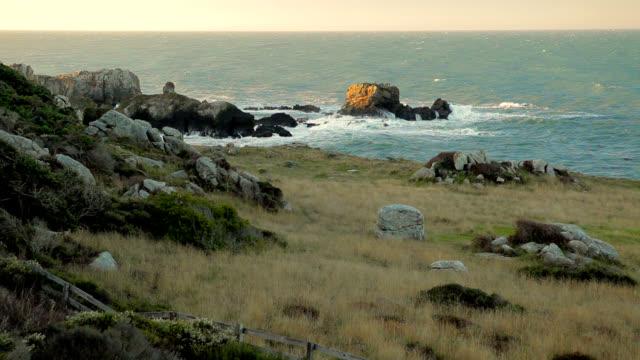 Rocky Bluff Overlooking Ocean video