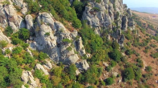 AERIAL VIEW. Rocky Formations On Slope Of Mountain Demerji video