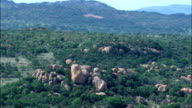 Rocky Landscape  - Aerial View - Limpopo,  Capricorn District Municipality,  Polokwane,  South Africa video