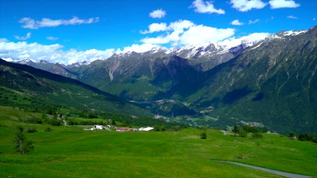 Rocky landscape in the Swiss Alps. video
