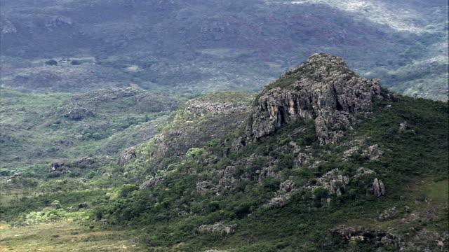 Rocky Landscape, Minas Gerais State  - Aerial View - Minas Gerais, Diamantina, Brazil video